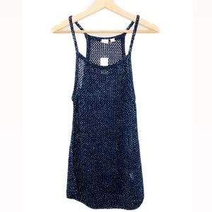 New! Gap Knitted Shimmer Spaghetti strap T…